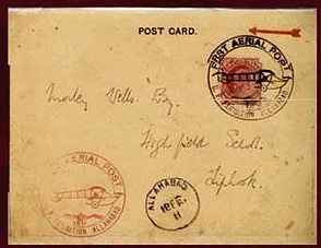 A Post Card on the First Airmail.